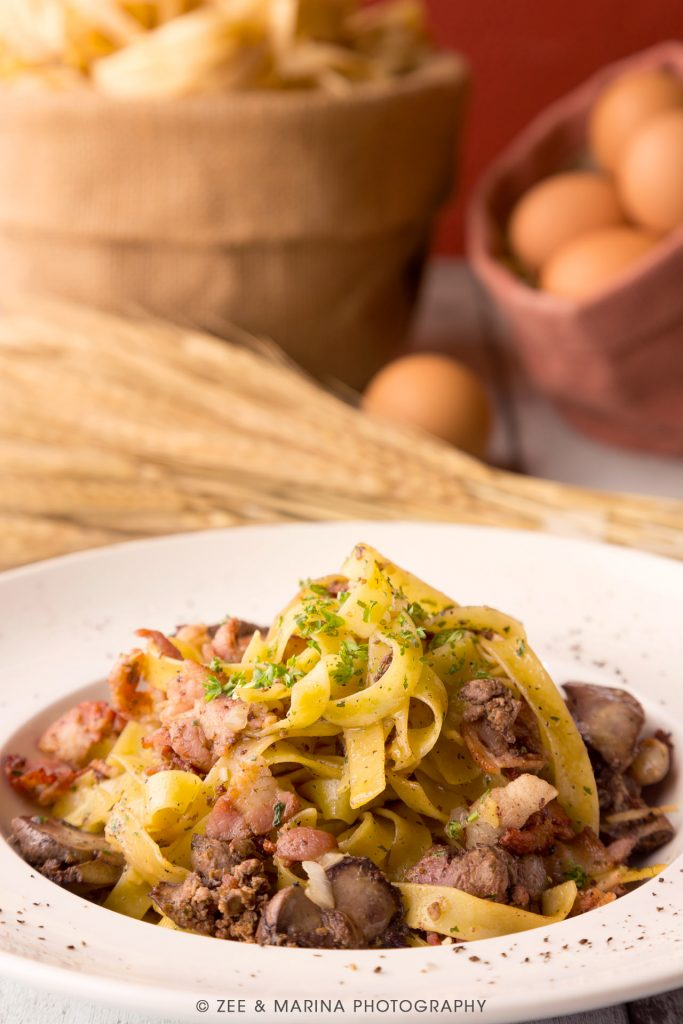 Beef pasta food photography for Luca Trattoria, an italian restaurant set in the hearts of Singapore's iconic Clarke Quay. Photographed by our master photographer.